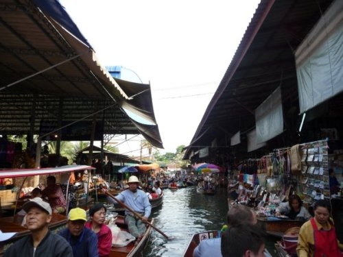 Photos of the floating market - Bangkok, Thailand