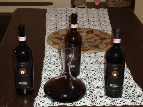 washed down with brunello