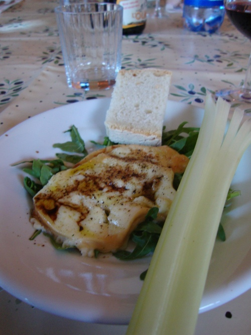 scamorza - baked cheese